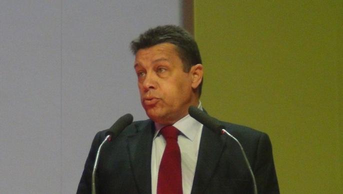 Xavier Beulin, président de la Fnsea au congrès de Biarritz en avril 2014.