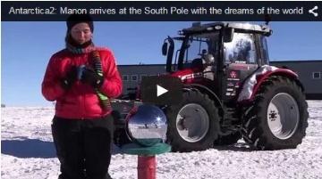 Un tracteur au pôle Sud, un Fendt en New Holland et un New Holland en Fendt