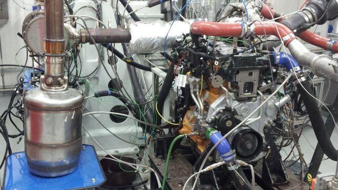 Une Cellule de test prototype moteur John Deere