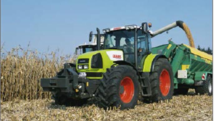 La cote agricole d'occasion tracteur - Claas Ares 826 RZ:témoin du passage de Renault Agriculture à Claas