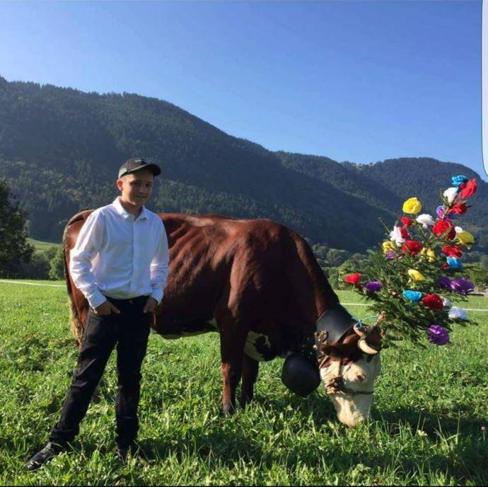 Tom Estampe, élève en 4e professionnelle agricole en Haute-Savoie
