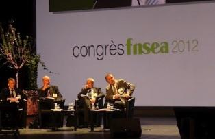 Michel Dantin, député européen, Philippe Lerouvillois de l'Inra, Jean Louis Bouscaren de la Cgpme et Didier Guillaume, Sénateur de la Drôme