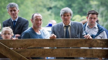 Au centre Stéphane Le Foll, ministre de l'agriculture