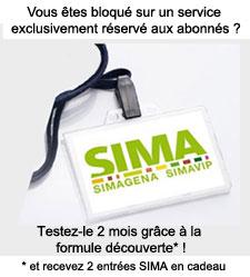 2 places SIMA offertes avec la formule Découverte