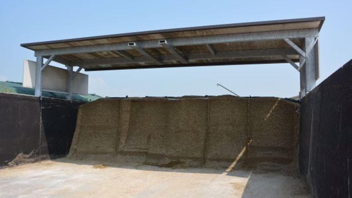 Couverture toit silo de maïs