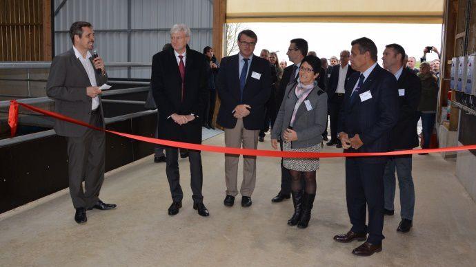 Inauguration de la stabulation expérimentale de Sourches a lieu mercredi 4 novembre 2015.