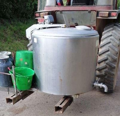 Chariot à lait fait maison