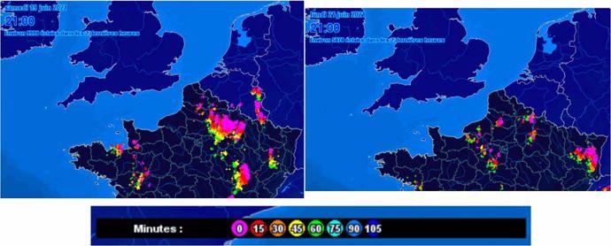 Orages dans le Nord en juin