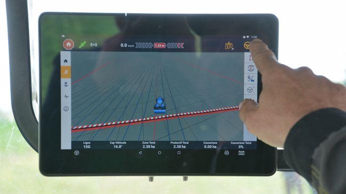 Écran GPS RTK