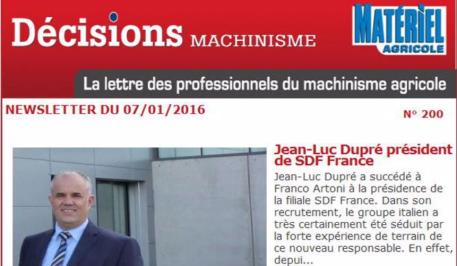 newsletter Décisions machinisme 200
