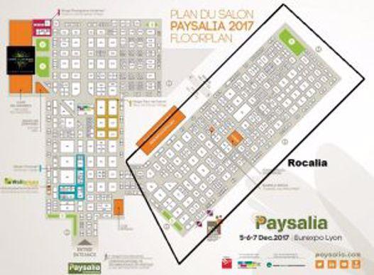 Plan de salons Paysalia + Rocalia