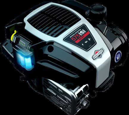 Batterie lithium-ion intégrée dans les moteurs Briggs & Stratton InStart.