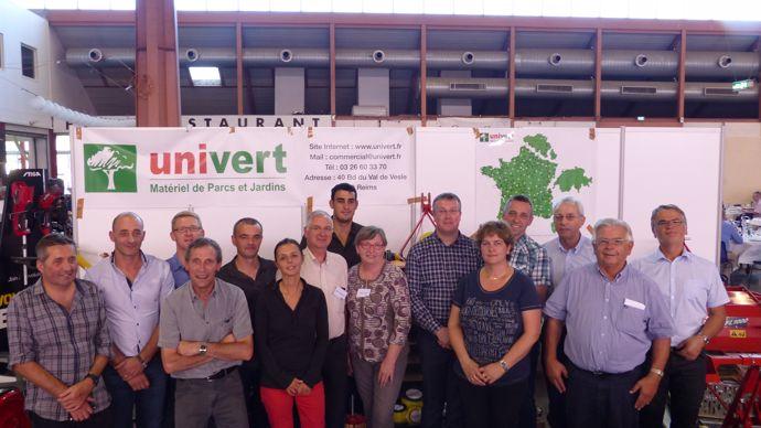 Collègues et amis d'Univert lors du congrès 2016 à Nîmes.