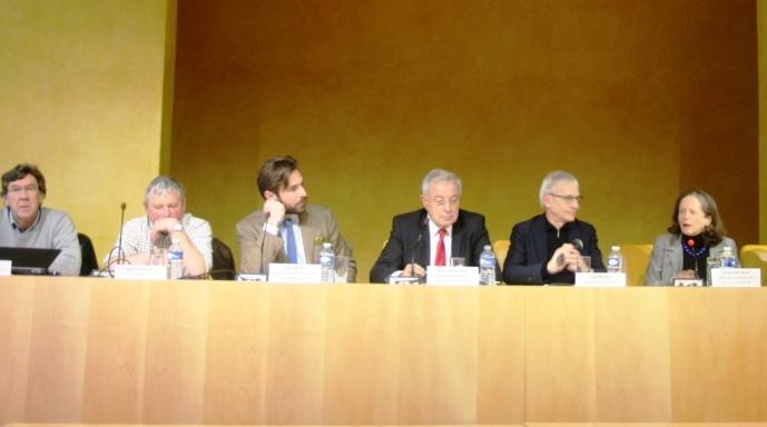 Débat Afja. De gauche à droite: Philippe Colin (CP), Leif Blanc (FN),