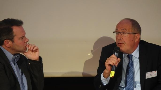 Philippe Mangin, président de Coop de France interrogé par David Barroux, rédacteur en chef , Groupe Les Echos.