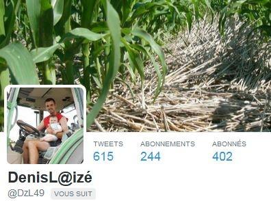 Denis Laizé est agriculteur dans le Maine et Loire. Il est présent sur Twitter.