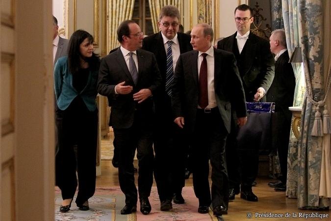 Vladimir Poutine et Francçois Hollande en juin 2014