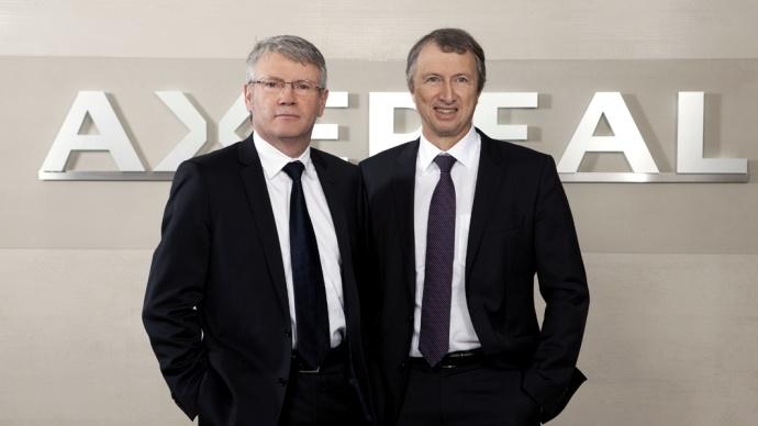 Jean-François Loiseau et Philippe de Raynal, président et directeur général d'Axereal