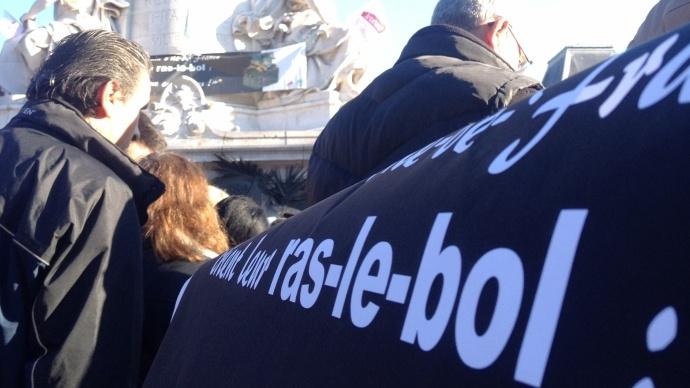 Manifestation du la Fnsea le 5 novembre 2014 pour dénoncer la complexité des règles administratives.