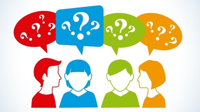 Dessins de gens qui se posent des questions