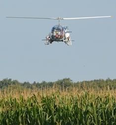 Epandage par hélicoptère