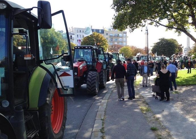 Les tracteurs dans Paris