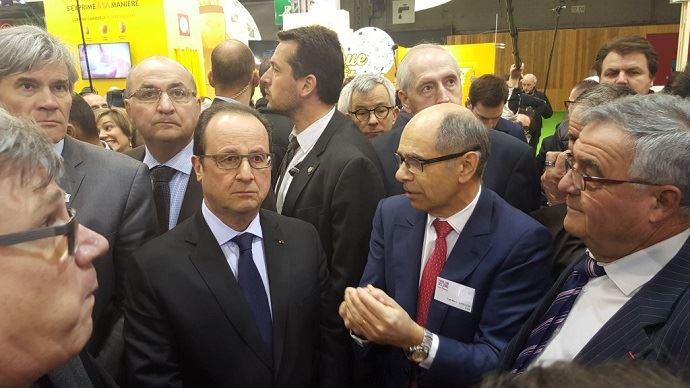 François Hollande s'est rapidement fait hué dans les allées du Salon de l'agriculture.