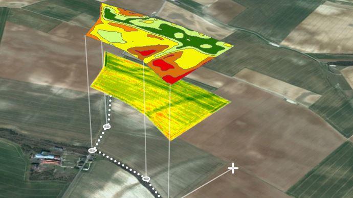 Exemple de cartographie issue d'un survol drone