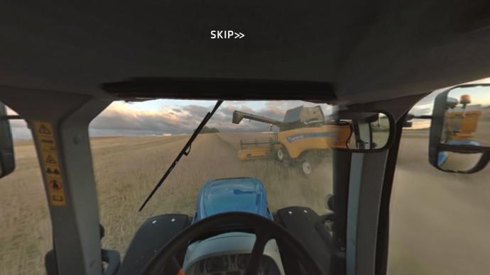 Vidéo 360 ° de l'appli OnBoard 360 de New Holland