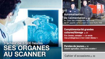 Tracteur de 3500 heures: ses organes au scanner