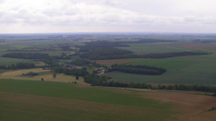 Parcelles agricoles vues de haut