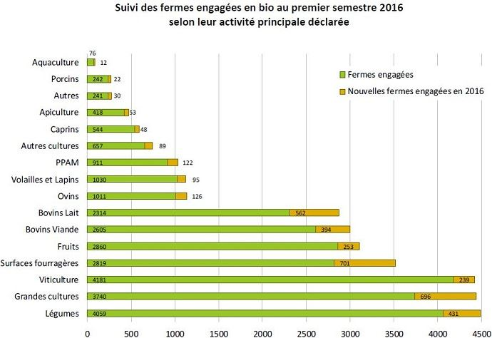 1f17d4d180f Explosion de la production biologique au premier semestre 2016