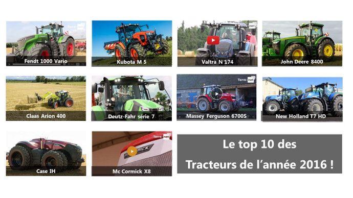 Le top 10 des tracteurs de l'année 2016 en une seule photo!