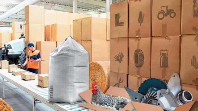 Chaîne logistique de fournitures agricoles.