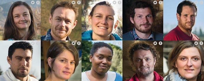 Dix des onze jeunes agriculteurs dont le portrait sera affiché dans le métro pour la campagne de communication #NourrirLeFutur.