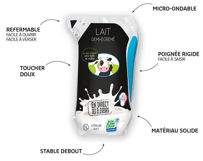 Pack de lait UHT Ecolean