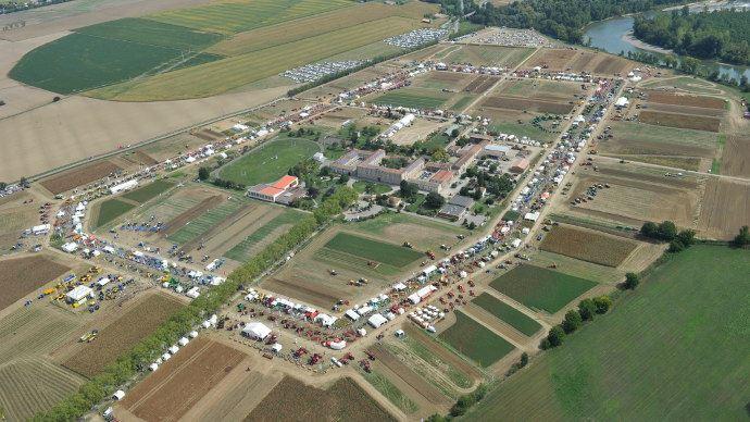 Vue aérienne du site lors de l'édition 2015