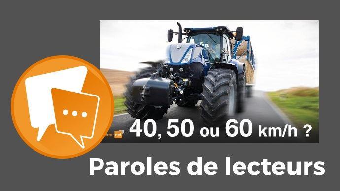 Visuel paroles de lecteurs tracteurs roulant a plus de 60 km/h