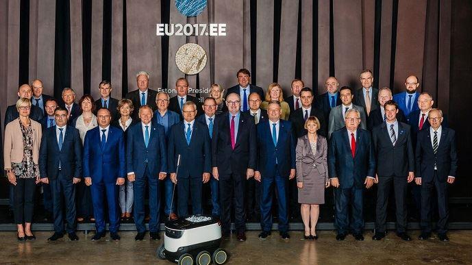 Les ministres de l'agriculture des 28 Etats membres étaient, avec le commissaire à l'agriculture Phil Hogan, réunis en conseil informel à Tallinn, la capitale de l'Estonie, mardi 5 septembre 2017..
