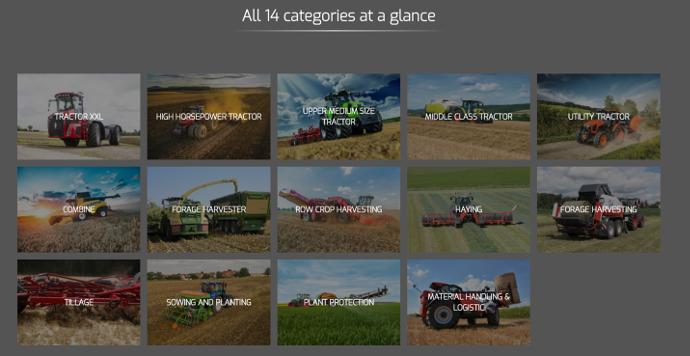Choisissez l'une des 15 catégories pour sélectionner votre Machine de l'année 2018