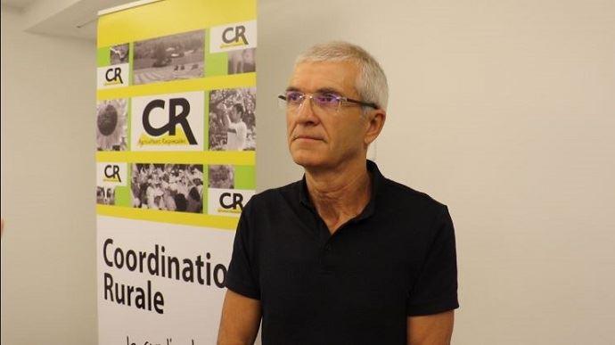 Bernard Lannes, président de la Coordination rurale, en août 2017.