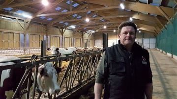 Thierry Fernandez a investi 8000¤/vache pour monter un élevage de toutes pièces