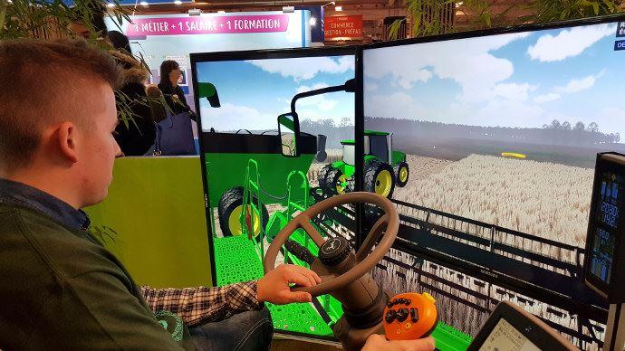 Faire la promotion des métiers grâce au simulateur de conduite moissonneuse batteuse, le nouveau défis de l'Aprodema