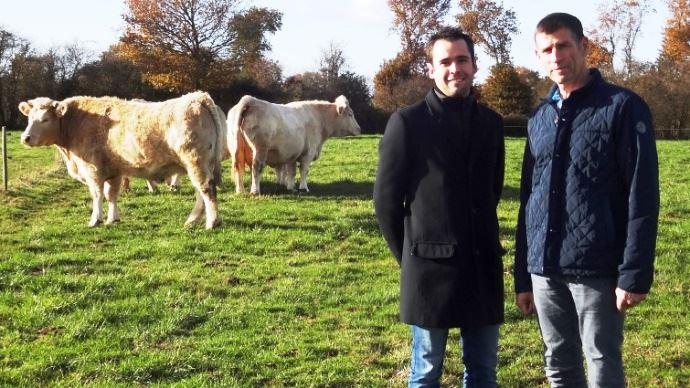 Éric et Antoine Pineau qui vendent leur viande sur internet par e-commerce