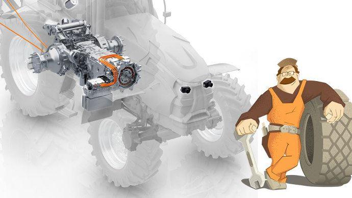 Les transmissions sont au coeur des tracteurs agricoles. ici une illustration d'une boite de vitesses ZF.