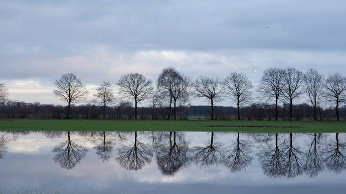Champs agricoles inondés