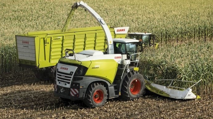 Claas Jaguar 980, le type 498 en version US monte jusqu'à 800 ch