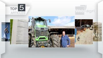 Un tracteur de 340ch dans un élevage à l'affiche sur Web-agri