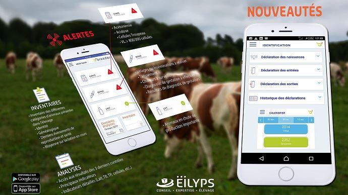 L'appli mobile Breeder donne les possibilités à l'éleveur de gérer son troupeau directement sur son smartphone.
