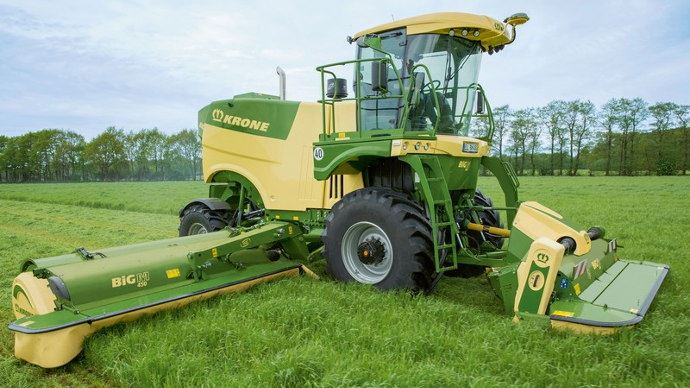 Krone Big M 450, la star du salon de l'herbe 2018